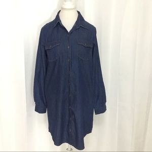 Highway Jeans Women's Denim Shirt Dress Large